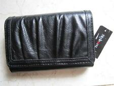 NEW WITH TAGS STYLE FOR MACY'S BLACK FAUX LEATHER CLUTCH WALLET WITH I.D WINDOW