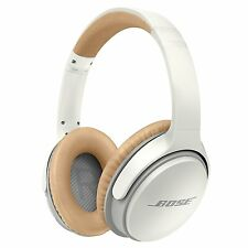 BOSE SoundLink II Bluetooth around-ear over-ear headphones in white and tan