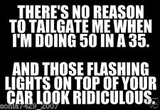 There's No Reason To Tailgate  Funny Car Truck Window White Vinyl Decal Sticker