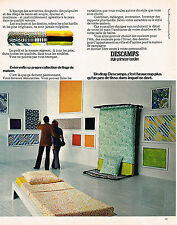 PUBLICITE ADVERTISING 114  1972  DESCAMPS  linge de maison PRIMEROSE BORDIER