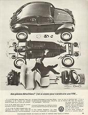 Publicité Advertising 1964  VOLKSWAGEN   VW  pièces détachées