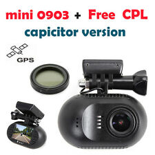 EYOYO Mini 0903 1080p HD Wifi Car Dash Cam Capacitor IMX322 Night Vision GPS+CPL