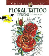 Creative Haven Floral Tattoo Designs Coloring Book Beautiful Rose Adult Coloring