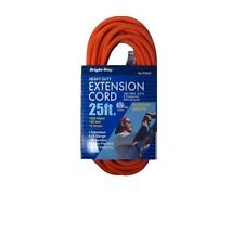 2 x 25FT Outdoor Indoor Heavy Duty Extension Cord 13 Amps 125V 1625W UL