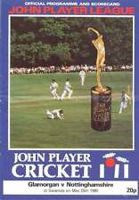 Glamorgan v Nottinghamshire 1980 John Player League Cricket Programme, Swansea