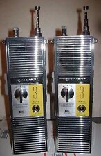 VINTAGE-PAIR-REALISTIC-TRC 202 WALKIE TALKIE-3 CHANNEL/CITIZENS BAND RECEIVERs