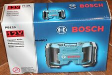 NEW Bosch PB120 12 Volt Lithium Ion Cordless JobSite Radio AM/FM MP3 Li-ion NEW