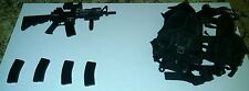 1/6 Playhouse MK 18/ M4 rifle and Very hot vest set #3