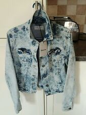 BNWT New Look denim acid wash Ladies jacket stretchy material size 10 RRP £24.99