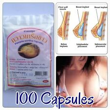 100 Capsules Pills Pueraria Mirifica Natural Breast Bust Enlargement Firming