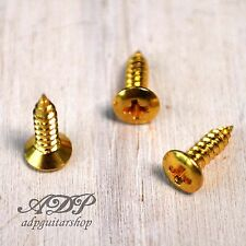 12 VIS PICKGUARD format GIBSON 2,5 x 10 mm SG screws GOLD