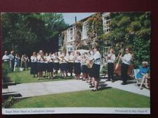 POSTCARD YORKSHIRE LASTINGHAM GRANGE - STAPE SILVER BAND PLAYING
