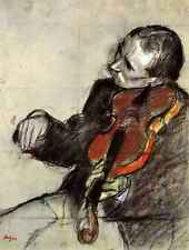 A3 Box Canvas Study of violinist by Degas