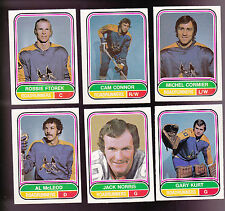 1975 O-PEE-CHEE WHA Team SET Lot of 6 Phoenix ROADRUNNERS NM FTOREK CONNOR OPC