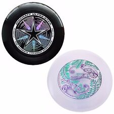 NEW Discraft ULTRA-STAR 175g Ultimate Frisbee Disc (2 Pack) BLACK/ULTRAVIOLET