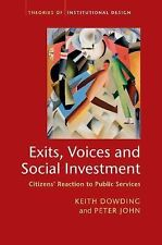 Exits, Voices and Social Investment : Citizens' Reaction to Public Services...