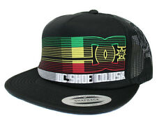 DC - QUICKNESS Mens Trucker Hat (NEW) Snapback Cap BLACK 420 RASTA Free Shipping