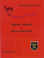 SOUTH AFRICA 1965 RUGBY TOUR PROGRAMME v WELLINGTON 3 Jul