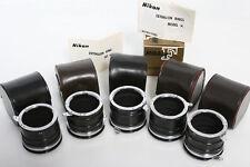 Nikon Extension Rings Model K: K1, K2, K3, K4, K5 Rings. box, Case macro micro