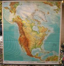 Schulwandkarte Wandkarte Schulkarte Nord Amerika USA 5Mio 195x211cm Kanada top