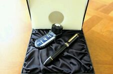 Montblanc Meisterstück 149 Fountain Pen with Ink Bottle and Leather gift box