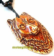 Men Cool Intelligent Alpha Wolf Totem Embossed Fashion Characters Necklace