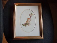 Hand Made Counted Cross Stitch Framed Picture -  a Mouse