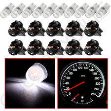 "10xWhite T10 194 LED Bulbs +10x 1/2"" Sockets Instrument Gauge Cluster Dash Light"