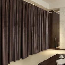 A Pair Vintage Style Velvet Curtains, 2x280cmx250cm Drop, Brown Color AC230B