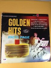 Patti Page Autograph Signed Record Album PSA/DNA COA LOA Grade 8 NM-MT