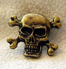 Auffällige Ziernieten BoneTotenkopf Skull Schädel Piratenkopf Neu  Farbe Messing