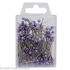 Pearl head pins Lilac Lavender florists corsage buttonhole 4cm Box of 144