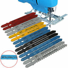 14PCS Jigsaw Blades Assortment Set for Bosch T Shank Jig Saw Metal Plastic Wood