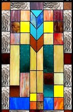 """26"""" STAINED GLASS WINDOW PANEL MISSION DESIGNER COLLECTION"""