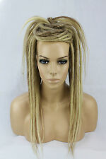 Blonde Mixed Dread Falls Hairpieces Burning Man Boho Halloween Festival Costume
