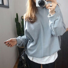 Plus Size Womens Fashion Hoodies Casual Plain Sweatshirt Pullover Outwear Tops