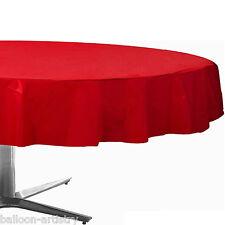 """84 """"Red Round Plastic Tablecover TOVAGLIE Panno WEDDING RISTORAZIONE"""