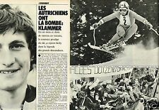 Coupure de Presse Clipping 1975 (4 pages) Franz Klammer