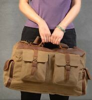 New handmade Canvas Messenger Shoulder Bag Unisex travel school duffel British