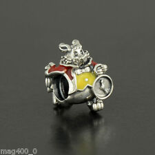GENUINE AUTHENTIC PANDORA DISNEY WHITE RABBIT frm Alice In Wonderland 791898ENMX