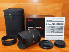 SIGMA 8-16mm F4.5-5.6 DC HSM For Nikon Lens 〔Mint〕From Japan   #590