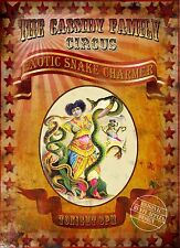 SNAKE CHARMER THE CASSIDY'S FAMILY CIRCUS   RETRO  VINTAGE STYLE  METAL SIGN 2
