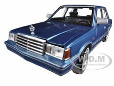 1983 PLYMOUTH RELIANT BLUE 1/24 DIECAST CAR MODEL BY MOTORMAX 73336