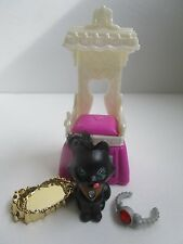 Littlest Pet Shop Royal Bling Diamond Kitty with Throne CUTE! Vintage Kenner