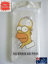 Homer Simpson Iphone 6 Transparent Hard Case i phone Simpsons skin covers