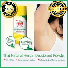 JT THAI Herbal Natural Whitening Deodorant Powder Antiperspirant Underarm 25 ml