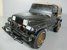 Vintage Tamiya RC 1/10 Jeep Wrangler Roller with some body damage Great Project