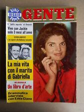 GENTE n°29 1969 Intervista Edda Ciano Jacqueline Kennedy Morte Brian Jones [D49]