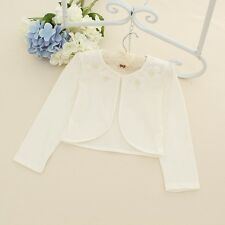 Ivory/Pink Bolero Shrug Short Cardigan for Bridesmaids/Flower Girls and Parties!