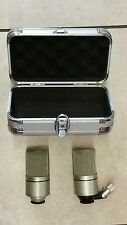 PAIR of MXL 990 Condenser Wired Professional Microphones in hard case!!!